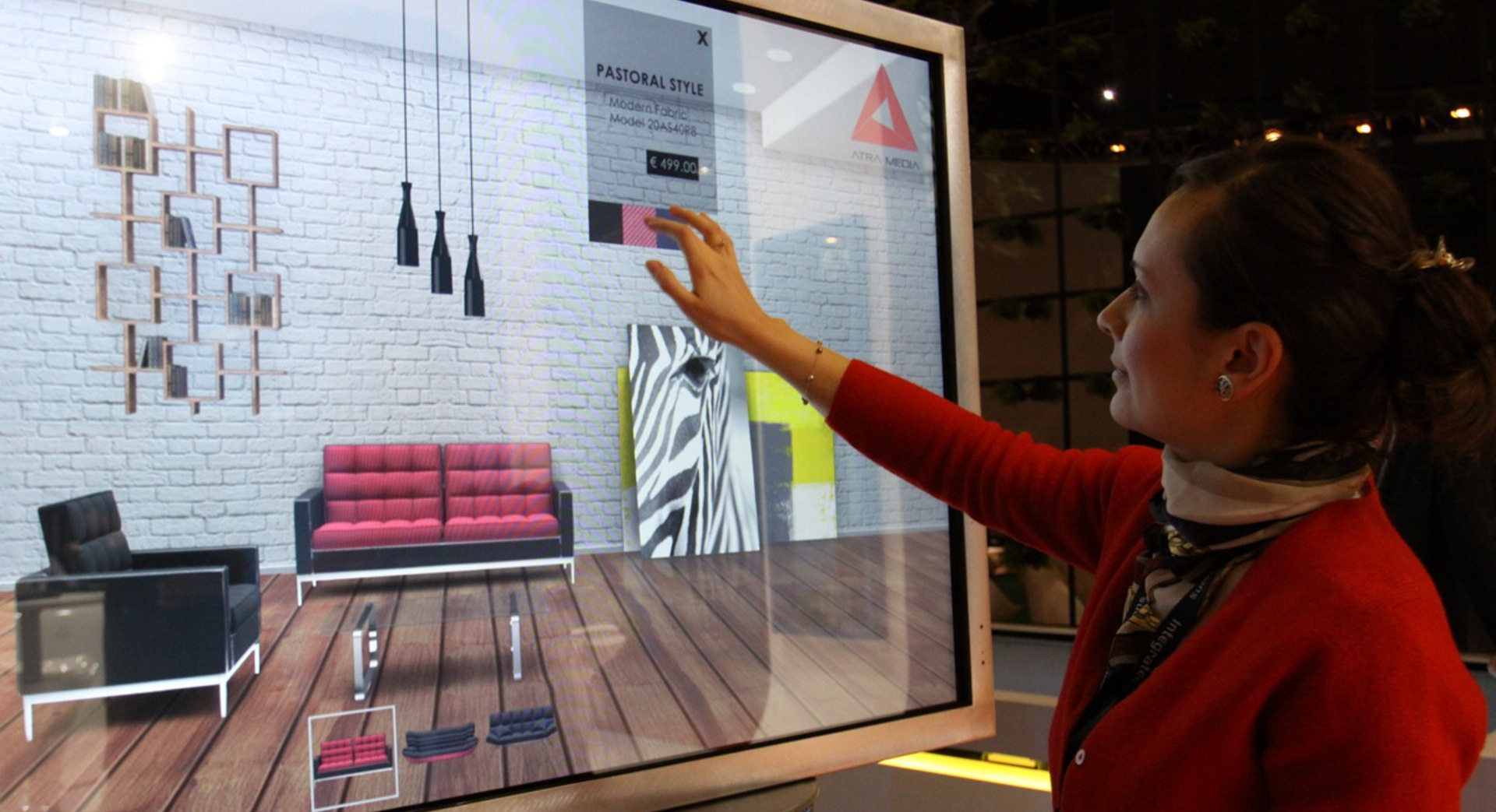 touchscreen interactive furniture app